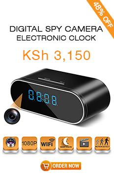 Digital Spy Camera and Clock for Kshs.3150