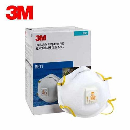 3M 8511 Particulate Respirator 8511, N95 - US Standard NIOSH - 10PCs