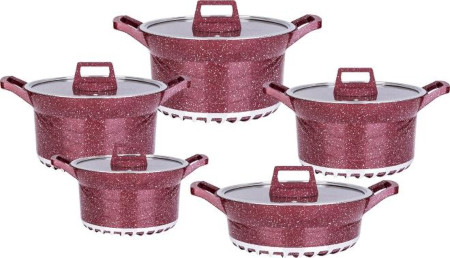 10pcs Idembo Cooking Pots Red