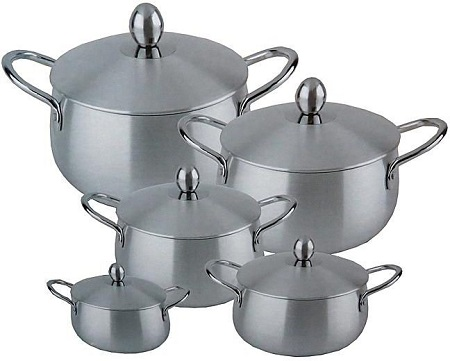 Aluminum Cooking Pot, Set of 10