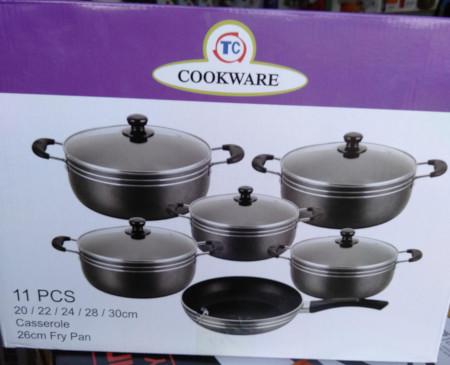 11 Pcs Non Stick Cooking Pots