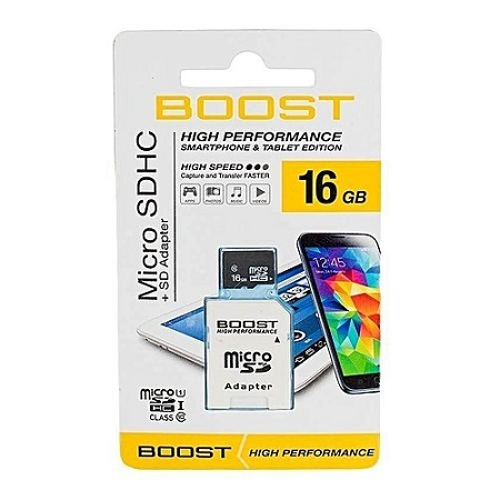 BOOST  Micro SD/Memory Card Card 16gb memory card