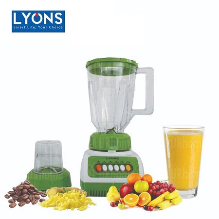 Lyons FY-999 -2 in 1 Blender with Grinding Machine - 1.5L - White & Green