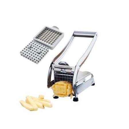 2 Blades Potato Chipper French Fries Slicer Chip Cutter Chopper Maker Slicer