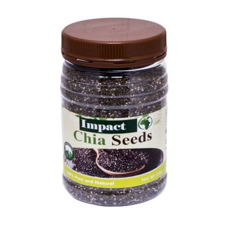 Impact Chia Seeds Organic Pure, Clean & Healthy(2-500GM PACKS)