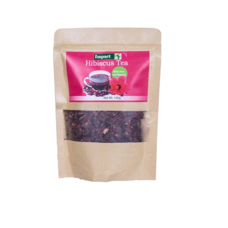 Impact Hibiscus Tea Petals Organic 100% Pure And Healthy-100gm