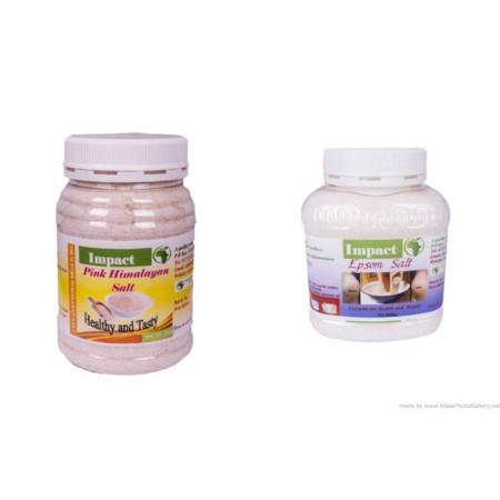 Impact Salt Epsom Salt 250g & Himalayan Salt 250g