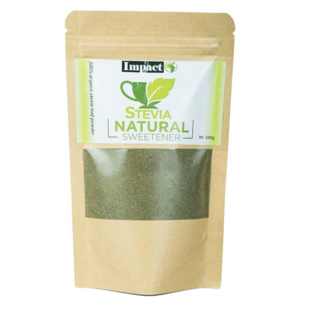 Impact Stevia Pure And Organic Green Powder-100gm