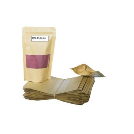 Kraft Pouch Packaging 100-150gms