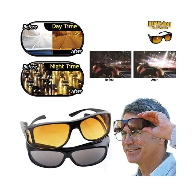 2 in 1 Driving Glasses (Night & Day Glasses)