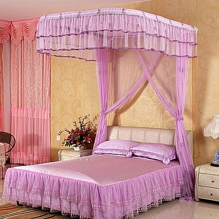 NET 2 Stands Mosquito Net With Sliding Rails pink 5*6