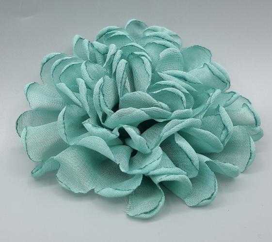 Vintage Burn Edge Chiffon Flower For Children Hair Accessories Artificial Fabric Flowers For Headbands