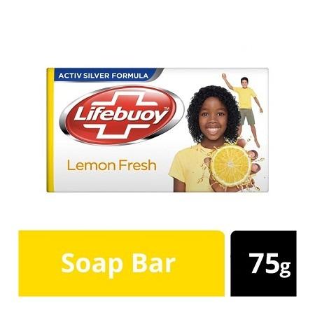Lifebuoy Germ Protection Anti bacterial Lemon Fresh Hand Body Soap Bar - 75g