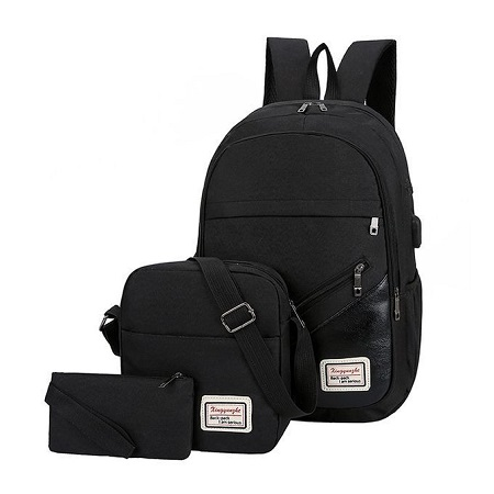 Fashion 3-In-1 Antitheft Backpacks - Black