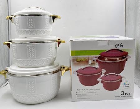 3pcs Set Hot Pots Size 2500ml,4500ml,And 6500ml