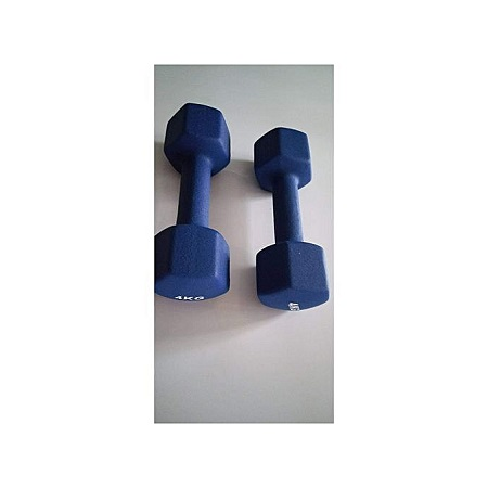 4KG DUMBBELL GYM WEIGHT NEOPRENE SHAPE