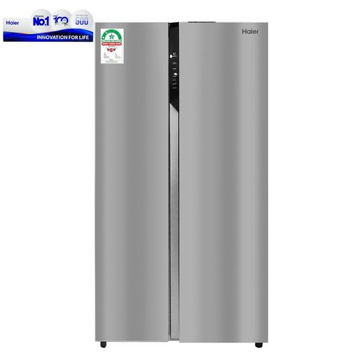 Haier Side By Side Door Direct Cool Fridge - 569 Litres - silver