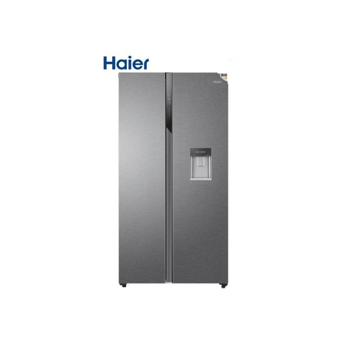 Haier Side By Side Door Direct Cool Fridge With Dispenser 569L-silver