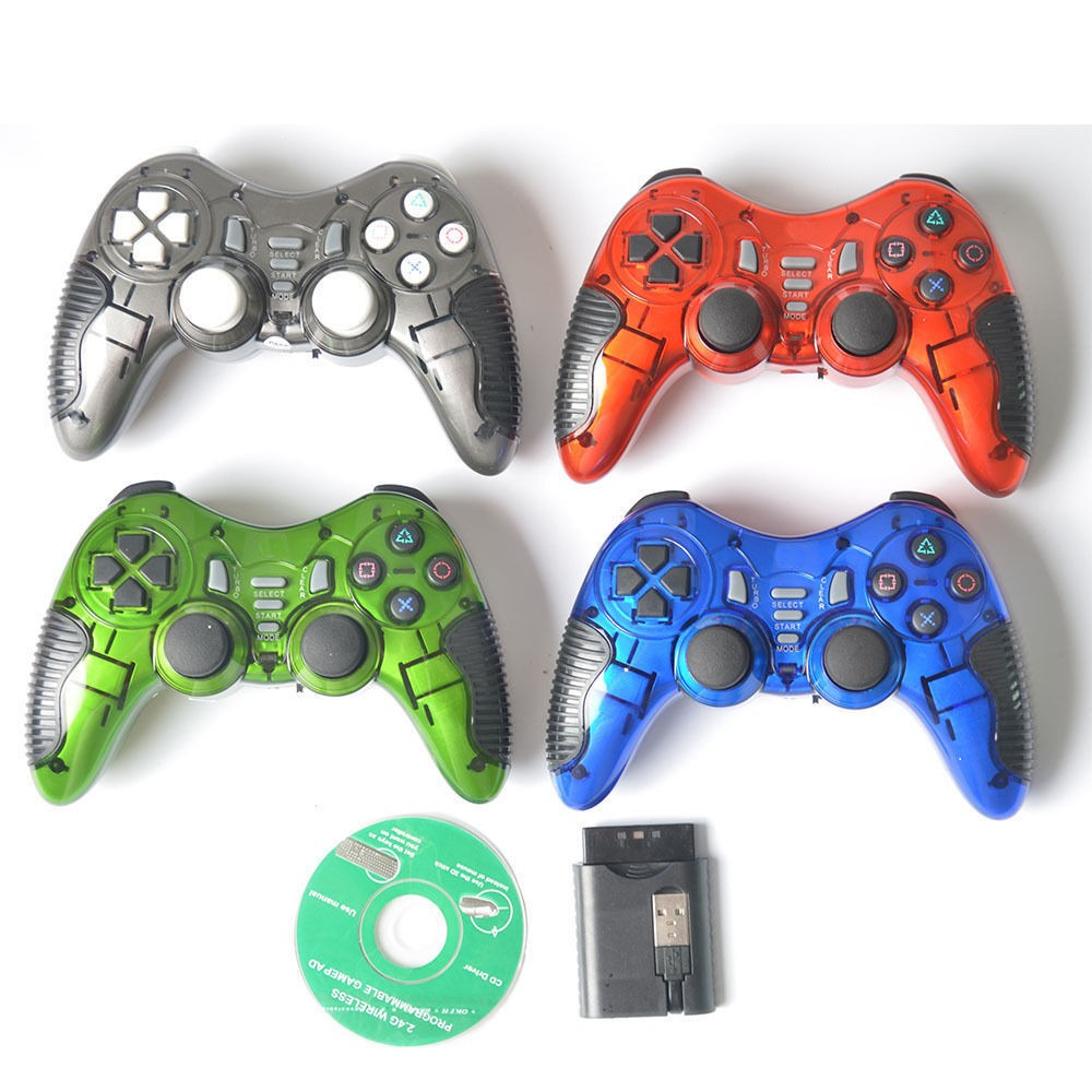 2.4GHz Double Shock Wireless Gamepad Joystick Gaming Controller For PS2 PS3 PC Android TV Box PC