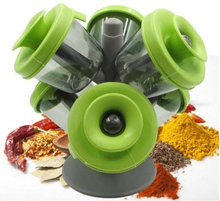 6pcs Silicone Tree Spice Rack Salt And Pepper Cruet Condiment Set Seasoning Bottle Rack