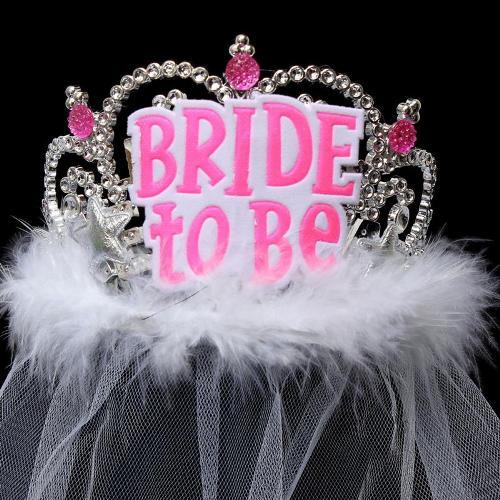 Shower Wedding Veil Crown Bride To Be Bachelorette Hen Event Party