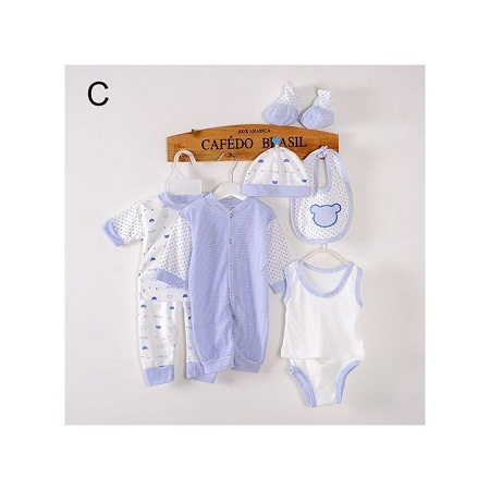 8 Piece Baby Cloth cotton set- Blue theme