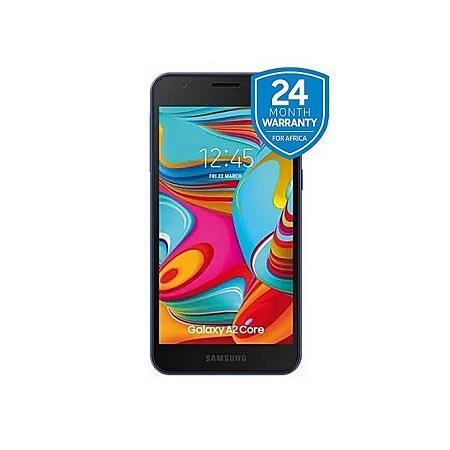 Samsung Galaxy A2 Core, 5.0 Inch, 16GB + 1GB (Dual SIM), Blue