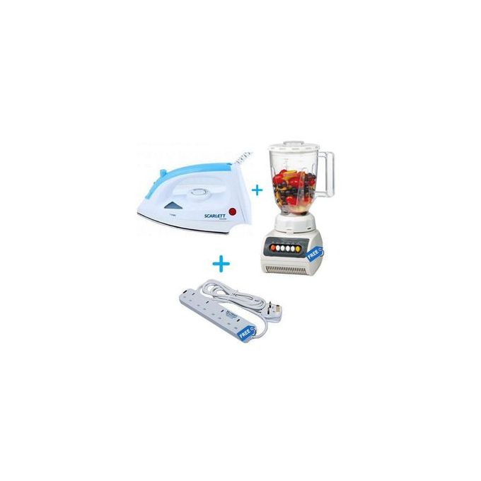 Generic High Quality 2 In 1 Blender+ Iron Box + Extension