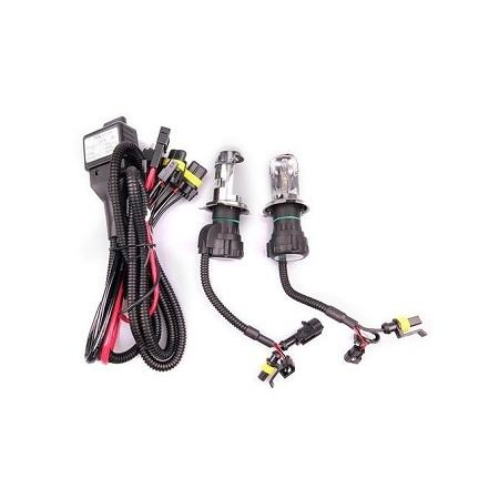 2pcs 55W H4 HID Bi-Xenon HI/LOW Headlight Bulbs Conversion KIT 3000-12000K Kit Type:Bulb*2 Color Temperature:4300K