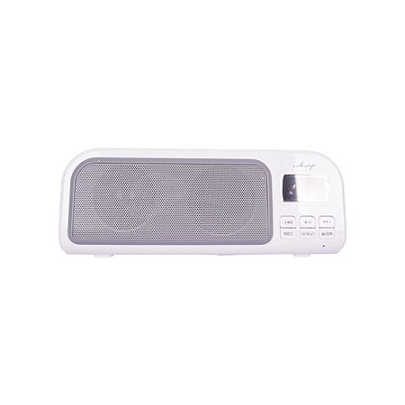 WHITE FM Radio, support SD Card