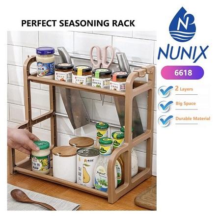 Nunix Perfect Seasoning & Spices Organizer Rack 2 Tier