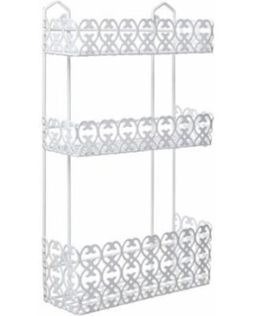 Bathroom Steel Rack Rectangle White