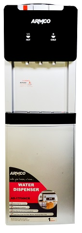 ARMCO AD-17FHNCR(S) - 3 Tap Water Dispenser with Refrigerator - 16L - Hot / Normal & Cold - Silver