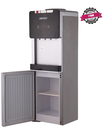 ARMCO AD-17FHNCR(S) - 16L Water Dispenser, Hot, Normal & Cold with Refrigerator, Silver.