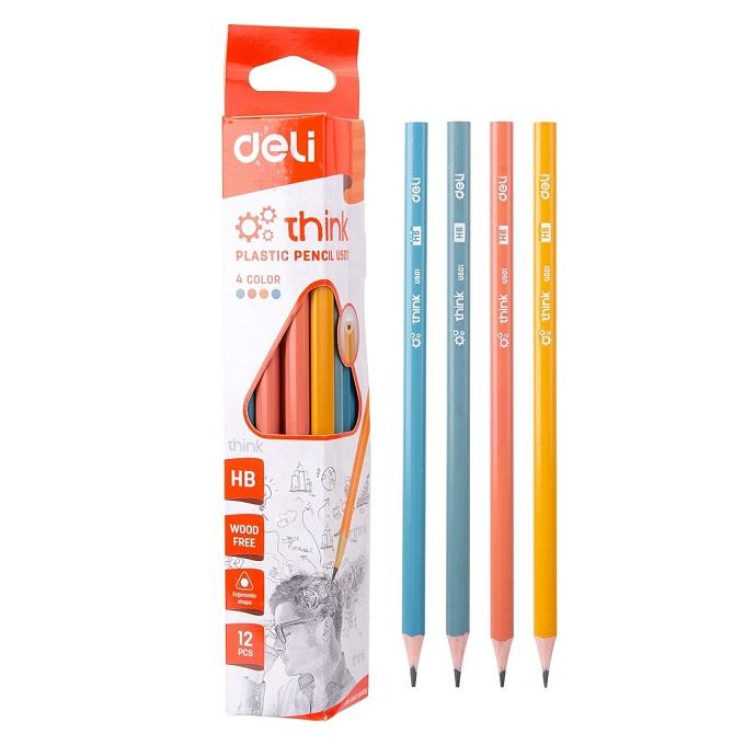 Deli HB Pencils - 12 pieces