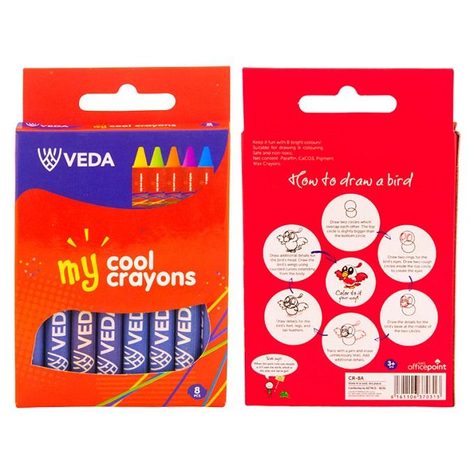 Veda Crayons - 8 Pieces per Pack