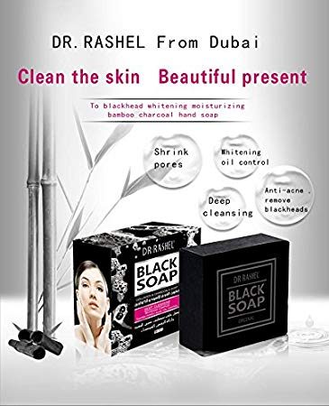 Dr Rashel Black Soap with Collagen & Charcoal For Acne Treatment black