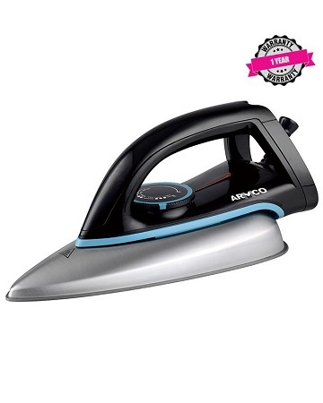 ARMCO AIR-11SSB - Mid Size Steam Iron, Stainless Steel Sole Plate, 1400W, Grey.