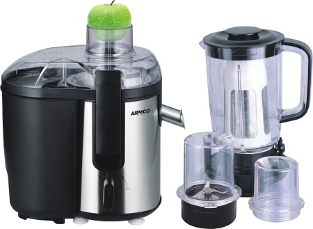 Armco AJB-900(SS) - 5 in 1 Juice Extractor - 400W - Silver & Black