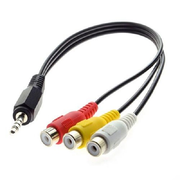 3.5mm AUX to 3RCA M/F Audio Video Mini AV Cable.