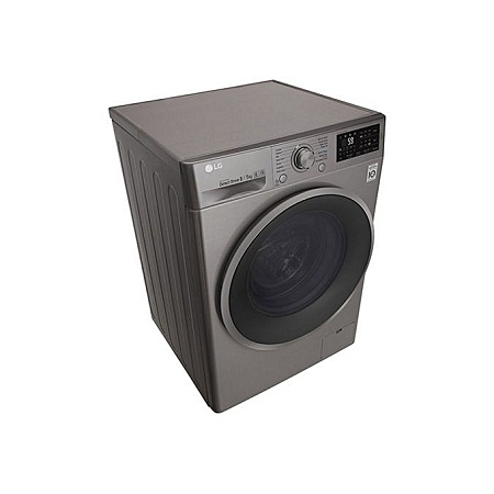 LG F4J6TMP8S - 8/5kg 1400 RPM Front Load Washer/Dryer - Silver