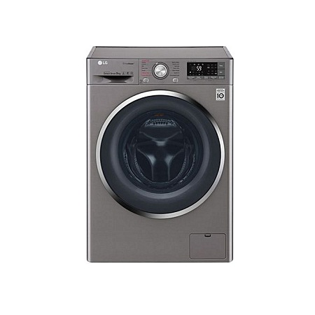 LG F4J7VYP2SD - 9kg 1400 RPM Front Load Washer, Steam - Crome Door Silver