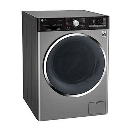 LG F4J9JHP2TD - 10.5/7Kg 1400 RPM Front Load Washer/Dryer, Steam - Silver