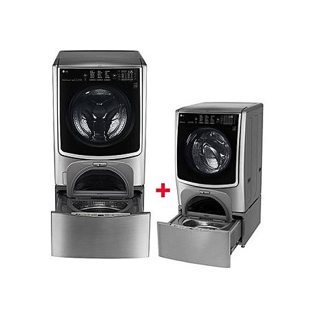 LG FH0C9CDHK72 + F70E1UDNK12 - TWIN WASH 21/12kg 1000 RPM Front Load Washer/Dryer + 3.5kg Mini Washer