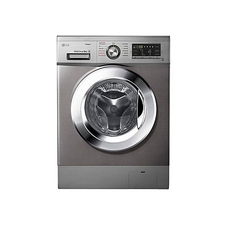 LG FH4G6VDYG6 - 9kg 1400 RPM Front Load Washer, Steam - Silver