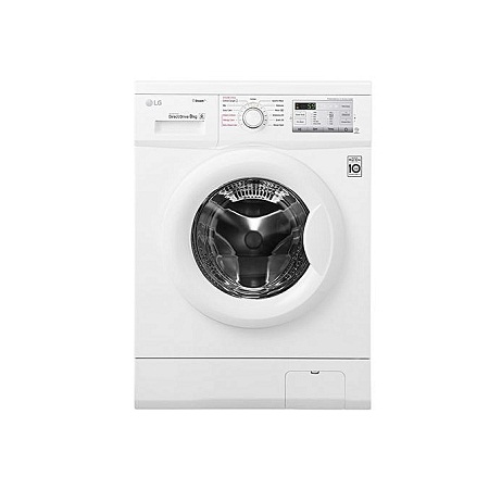 LG FH4G7TDY0 - 8kg 1400 RPM Front Load Washer, Steam - White