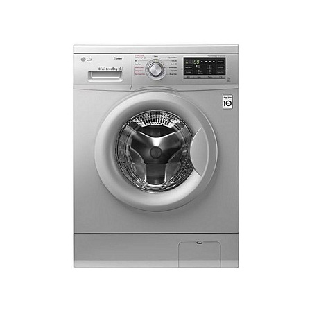 LG FH4G7TDY5 - 8kg 1400 RPM Front Load Washer, Steam - Silver.