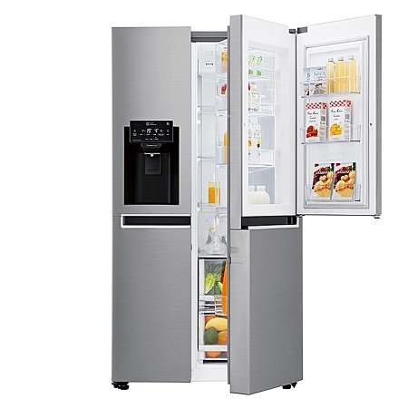 LG GC-J247SLUV -668L/23.59 ft³ Side by Side Fridge - Platinum Silver DID