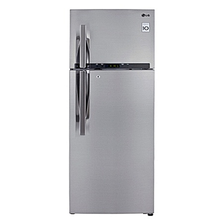 LG GL-F652HLHU - 471L/16.00 ft³ Double Door Fridge - Shiny Silver + Water Dispenser- Silver finishing