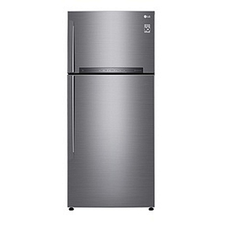LG GL-H652HLHU - 471L/16.00 ft³ Double Door Fridge - Shiny Silver